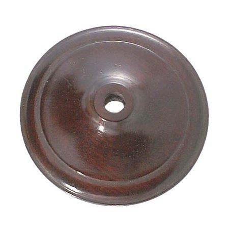 """B&P Lamp® 3 1/2"""" Dia. Wooden Vase Cap, Rosewood Finish"""