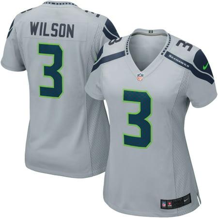 Russell Wilson Seattle Seahawks Nike Women s Game Jersey - Gray -  Walmart.com 5845f7b40918