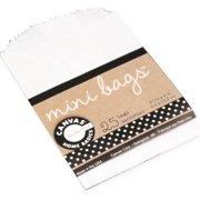 "Mini Gift Bags 2.5""X4"" 25/Pkg-White"