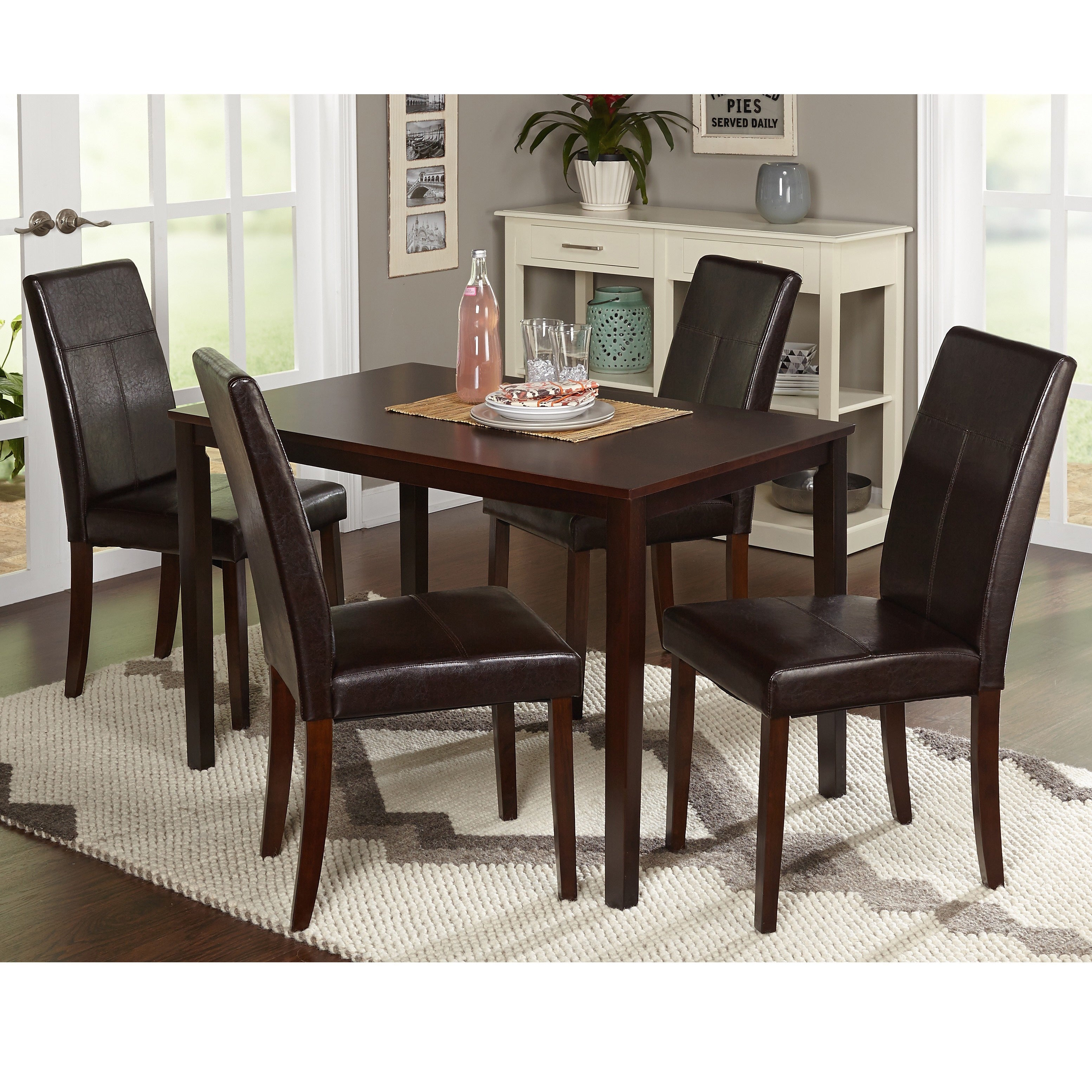 Target Marketing Systems Bettega 5 Piece Dining Table Set