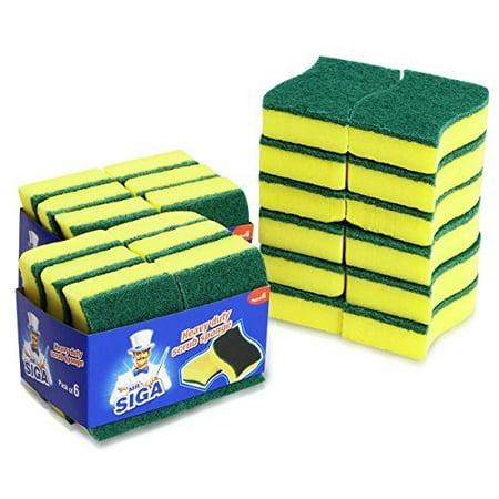 Mr  Siga Heavy Duty Scrub Sponge  24 Count  Size 11 X 7 X 3Cm  4 3  34  X 2 8  34  X 1 2  34
