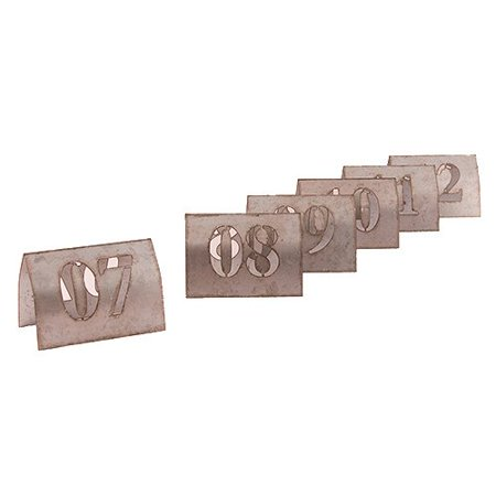 Laser Cut Metal Table Number Set, 7-12