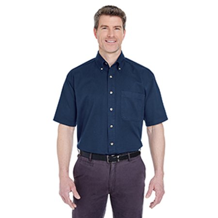 Ultraclub Adult Short Sleeve Cypress Twill With Pocket 8965C