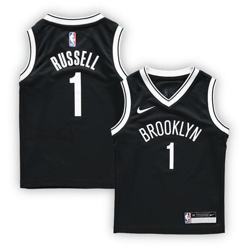 f98b2641f3b ... inexpensive dangelo russell brooklyn nets nike preschool replica jersey  black icon edition walmart 060de eb436