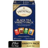 Twinings of London Variety Pack Black Tea Bags , 20 Ct., 1.41 oz.
