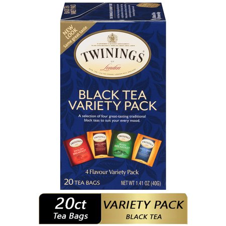 Twinings of London Variety Pack Black Tea Bags , 20 Ct., 1.41 oz.