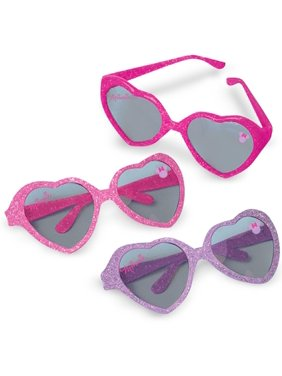 Disney Minnie Mouse Glitter Heart Sunglasses, 6pk