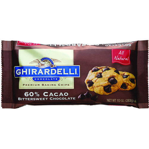 Ghirardelli Chocolate 60% Cacao Bittersweet Chocolate Baking Chips, 10 oz