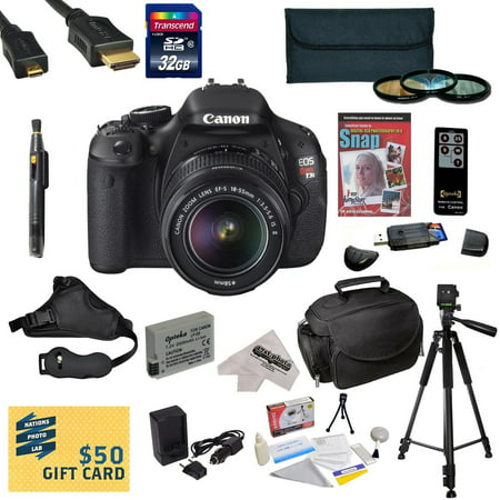 Canon EOS Rebel T3i DSLR Camera with EF-S 18-55mm f/3.5-5...