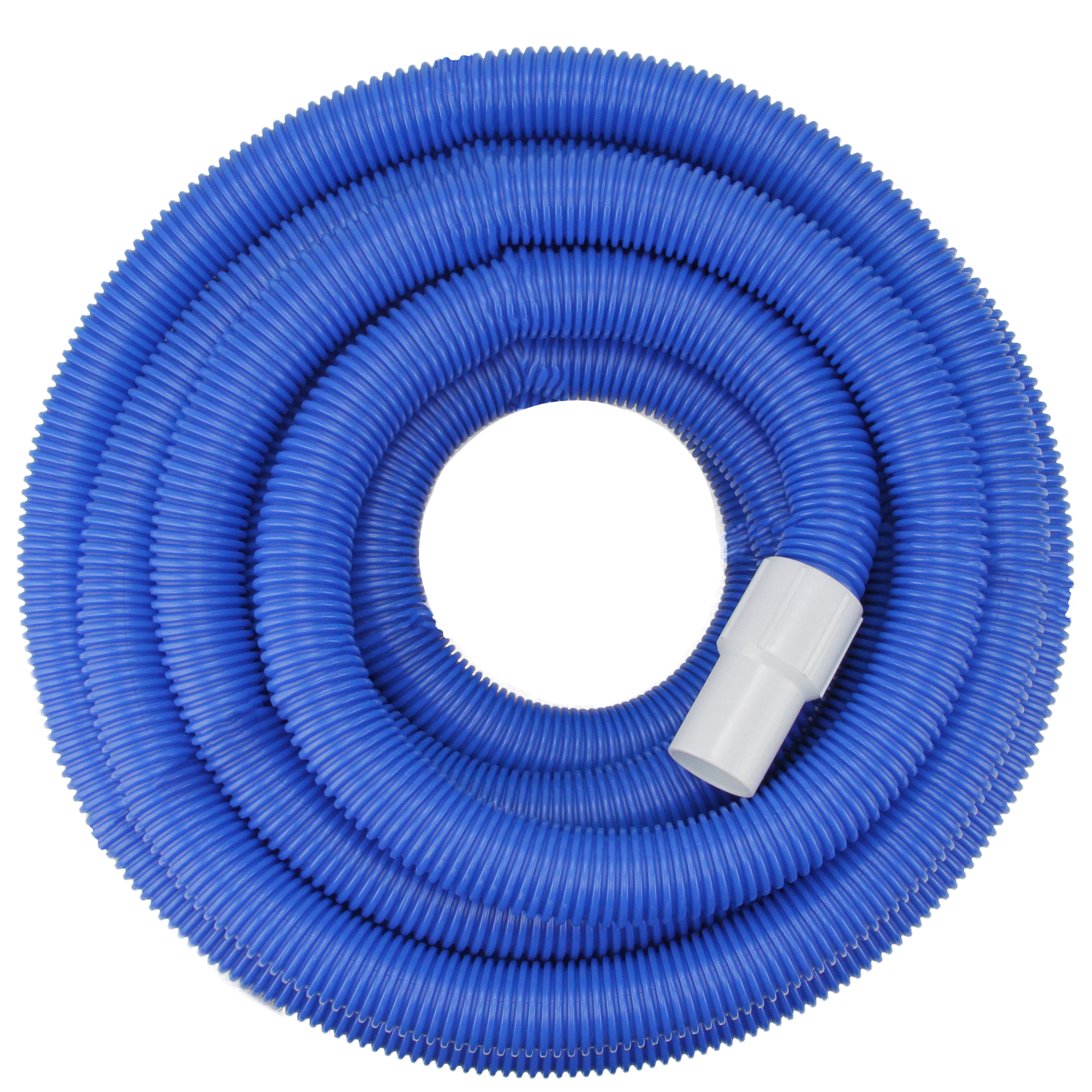 Blue Blow-Molded PE In-Ground Swimming Pool Vacuum Hose with Swivel Cuff - 25' x 1.5""