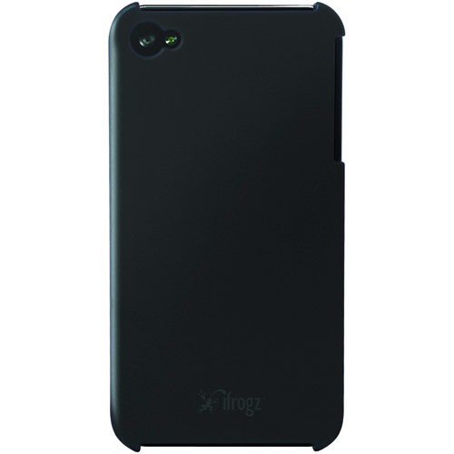 ifrogz Luxe Lean - Case for cell phone - polycarbonate - black - for Apple iPhone 4