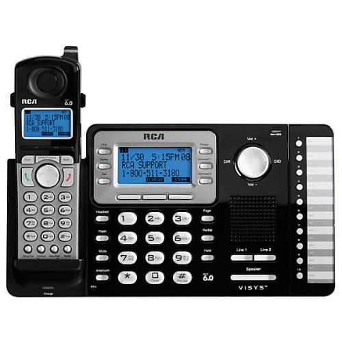 """""""RCA ViSYS 25212 25212 2-Line DECT 6.0 Cordless Phone"""""""