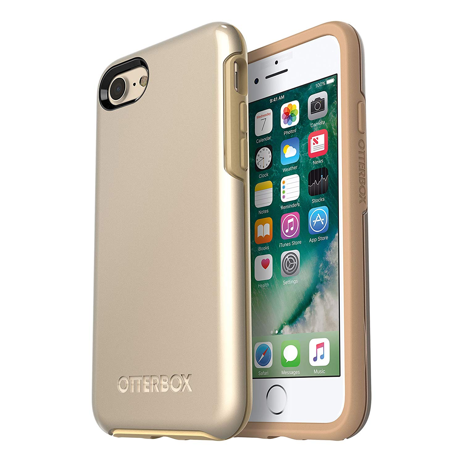 OtterBox Symmetry Case Lightweight And Protective for iPhone 8 PLUS And iPhone 7 PLUS - Non-Retail Packaging - Champagne