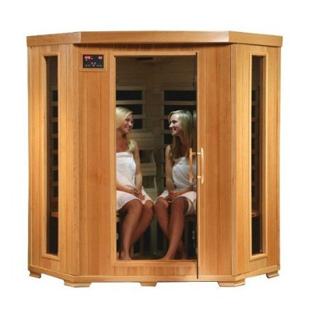 Heatwave Sa2420dx Tuscon Monticello 4 Person Infrared Sauna With 10 Carbon Heaters E Z Touch Control Panel Oxygen Ionizer Chromotherapy System Recessed Interior Lighting And Built In Sound