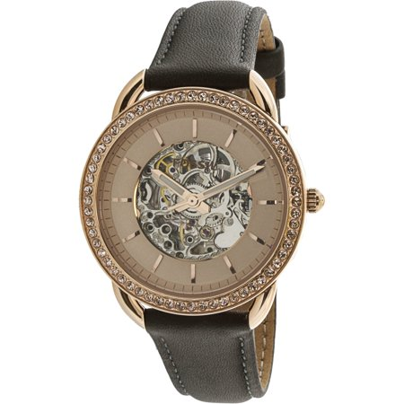Fossil Womens Tailor Me3151 Rose Gold Leather Automatic Fashion Watch