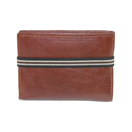 54dc8505d91d CTM - Size one size Men s Leather Bifold Wallet with Exterior Elastic Band