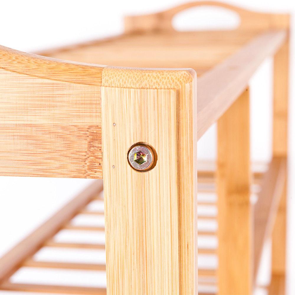 Ktaxon 6 Tier Bamboo Shoe Rack Entryway Shoe Shelf Holder Storage Organizer - image 3 de 4
