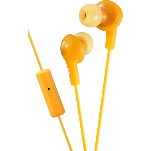 JVC Gummy Plus Inner Ear Headphones with Microphone Remote