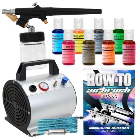 Complete Master Airbrush Cake Decorating Airbrush System : PointZero Complete Airbrush Cake Decorating Set - 8 ...