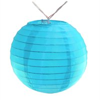 LumaBase Battery Operated String Lights with 10 Nylon Lanterns
