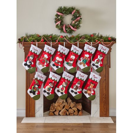 Personalized Snow Cap Christmas Stocking, Available in 11 - Gingerbread Man Stocking