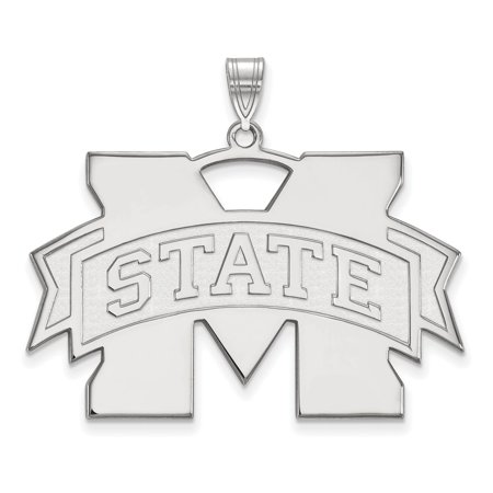 White Sterling Silver Charm Pendant Mississippi NCAA State University 33 mm 41 State University Sports Charms