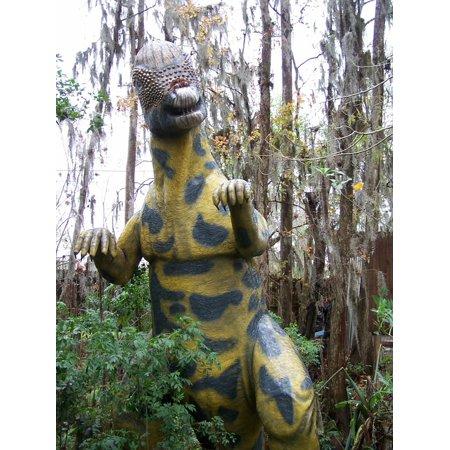 Canvas Print Theme Park Florida Dinosaur World Dinosaur Stretched Canvas 10 x 14 (Theme Park World Halloween World)