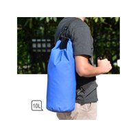 Waterproof Floating Water Resistant Dry Bag for Swimming Boating Camping Biking Blue Nylon 10L