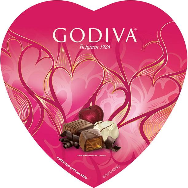 Godiva Chocolate Valentine S Heart Box Assorted Chocolates 7 5 Oz 20 Count Walmart Com Walmart Com