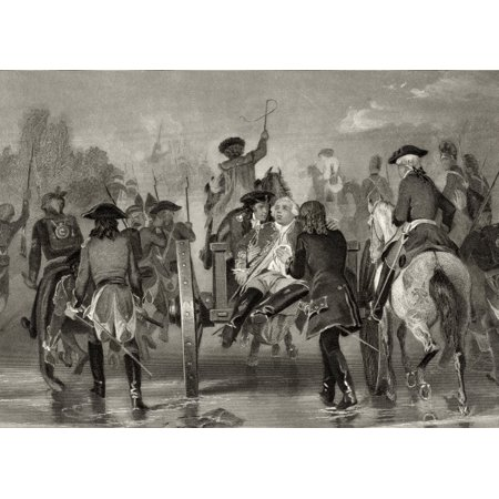 Mortally Wounded General Edward Braddock 1695 To 1755 Retreats From The Monongahela River In 1755 After Attack From French And Indian Forces After Alonzo Chappel From Life And Times Of Washington Volu