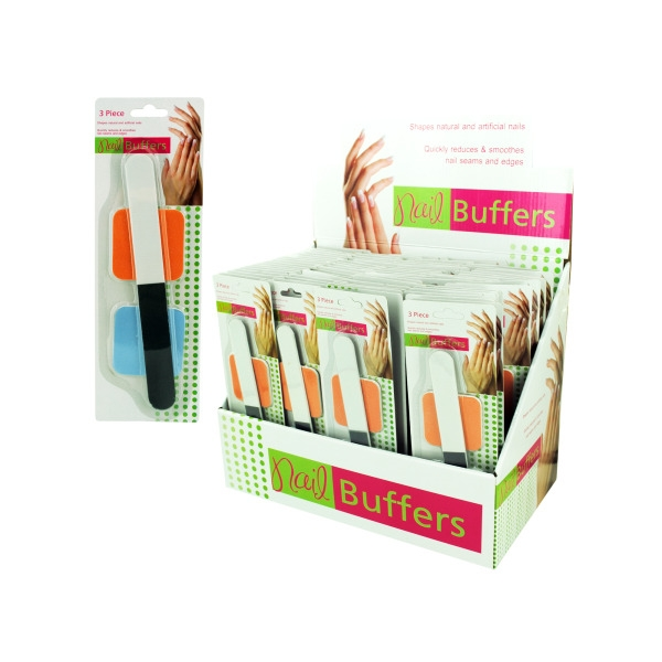 Nail Care Buffers Countertop Display (Lot of 72)