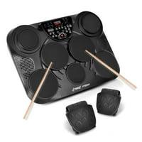 Pyle PTED01 - Electronic Table Digital Drum Kit Top w/ 7 Pad Digital Drum Kit