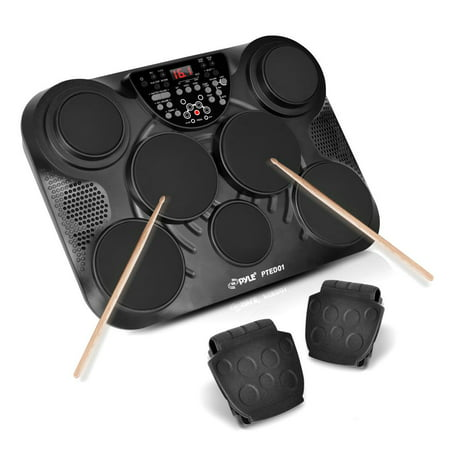 Pyle PTED01 - Electronic Table Digital Drum Kit Top w/ 7 Pad Digital Drum