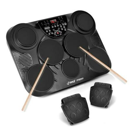 pyle pted01 electronic table digital drum kit top w 7 pad digital drum kit. Black Bedroom Furniture Sets. Home Design Ideas
