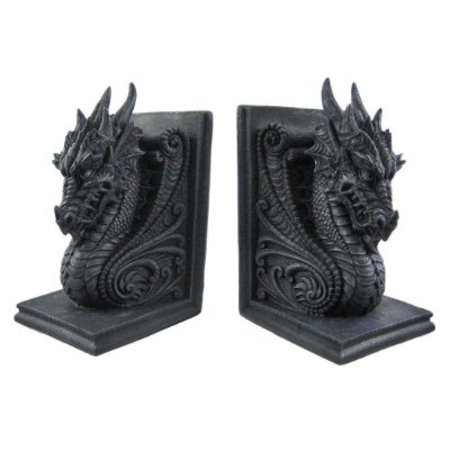 Gothic dragon bookends midieval book ends evil medieval 8266 - Gothic bookends ...