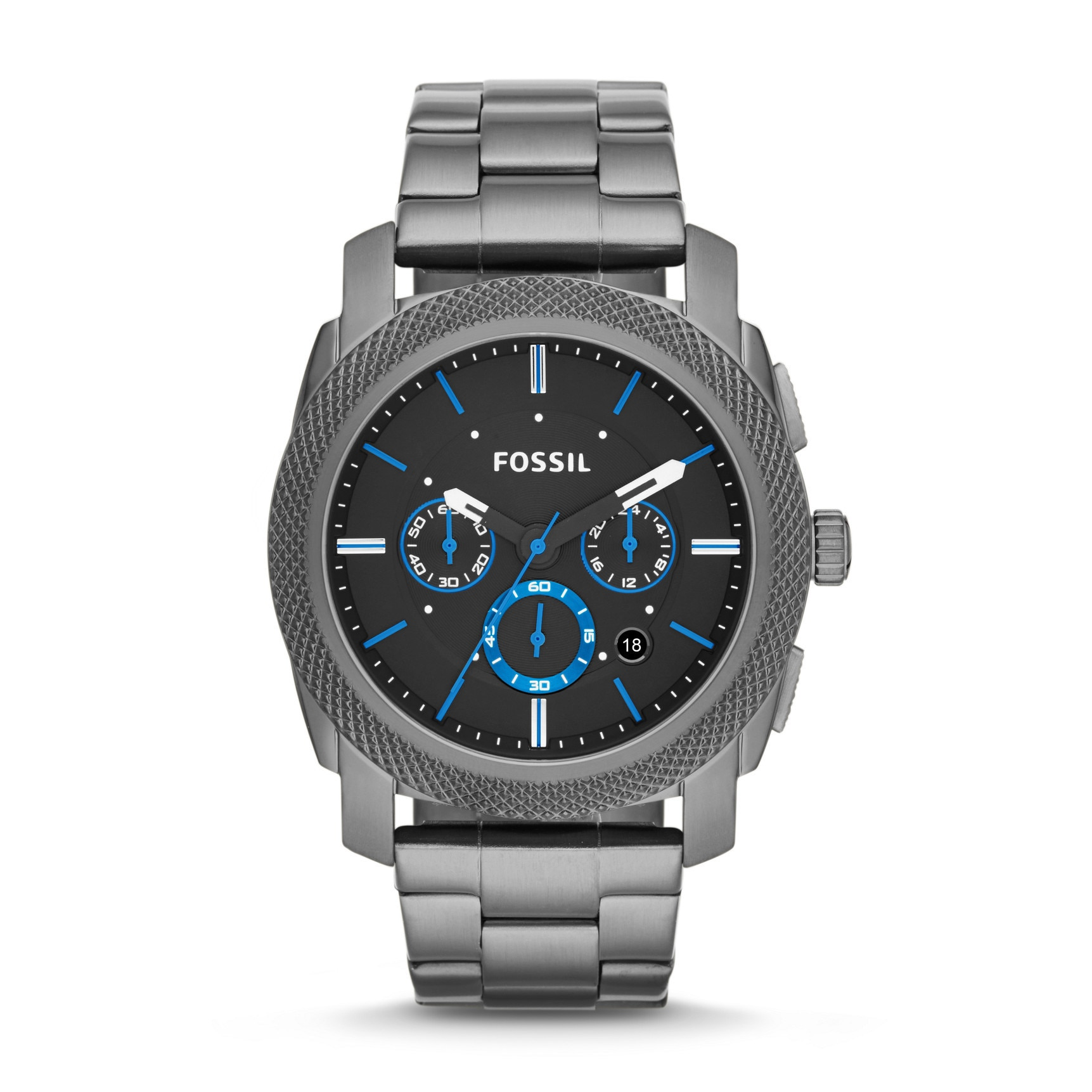 Fossil Men's FS4931 Chronograph Machine Smoke-Tone Watch