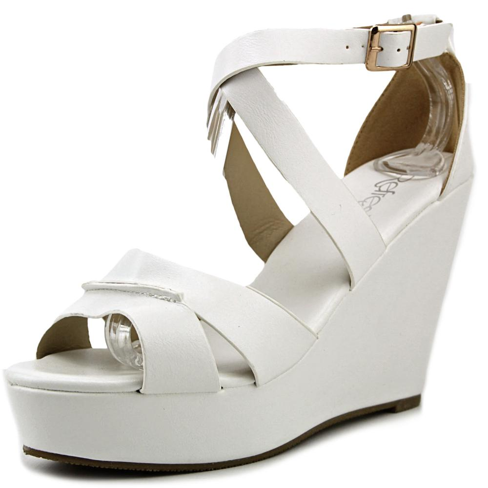 Refresh Olay   Open Toe Leather  Platform Sandal