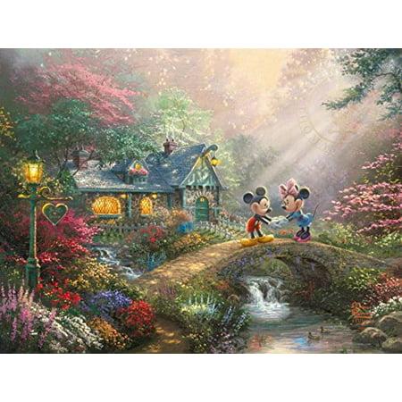 Puzzle - Ceaco - Disney - Mickey Minnie Sweatheart Bridge 750pc 2903-20](Heart Puzzle)
