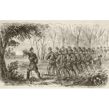Union Soldiers On The Plateau At The First Battle Of Bull Run July 21 1861 Near Manassas Virginia During The American Civil War From A 19Th Century Illustration Canvas Art   Ken Welsh  Design Pics  18