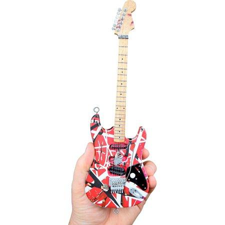 Unique Engineering EVH Frankenstein (Red and White) Miniature Replica Guitar - Van Halen Approved ()