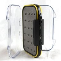 Portable Fly Lure Storage Box Waterproof Double Side Tackle Box Fishing Hooks Baits Storage Case Random Color