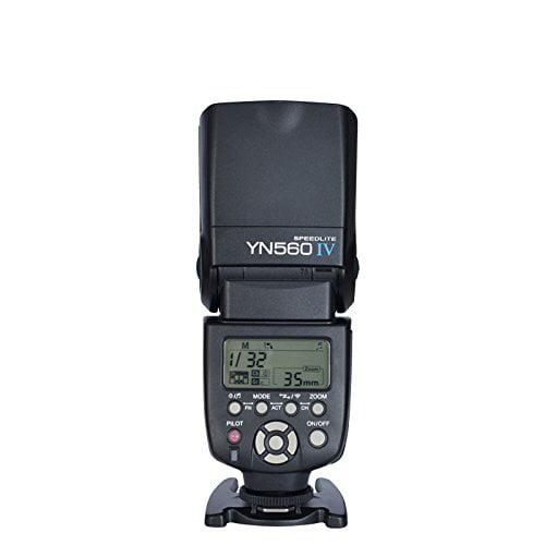 YONGNUO YN560 IV Wireless Flash Speedlite Master Slave Flash Built-in Trigger System for Canon Nikon Pentax Olympus Fujifilm Panasonic Digital Cameras