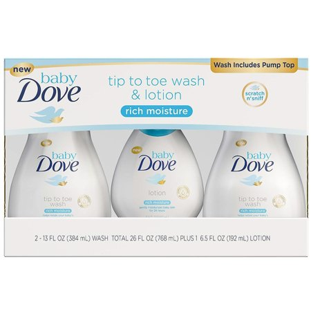 Baby Dove Tip to Toe Wash & Lotion (2 - 13 fl. oz. & 1 - 6.5 fl.