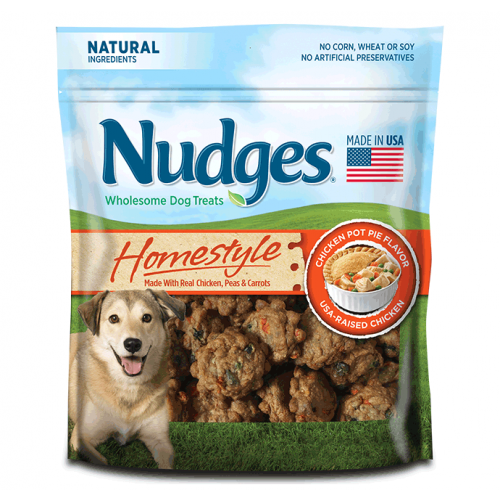 Nudges Homestyle Chicken Pot Pie Dog Treats, 16 Oz