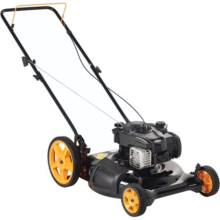 Poulan Pro 21 Gas Push Lawn Mower With Side Discharge And Mulching