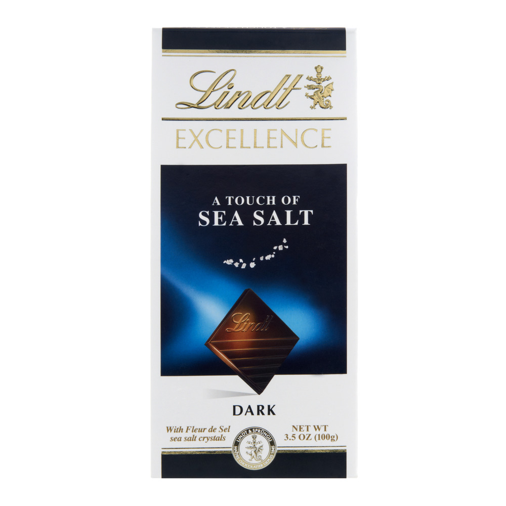 Lindt Excellence Chocolate Bar, A Touch of Sea Salt, 3.5 Oz by Lindt & Sprungli