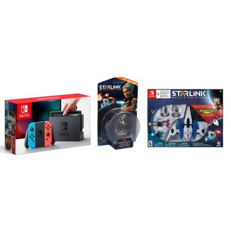 Nintendo Switch Console with Starlink Game and Your Choice of Starlink Accessory (Mp5 Game Console)