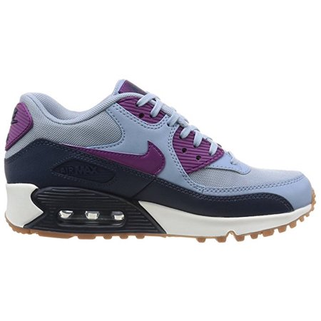 a57ae48e846899 Nike - Nike Women s Air Max 90 Essential Blue Grey Bright Grape Running Shoe  (11 B(M) US) - Walmart.com