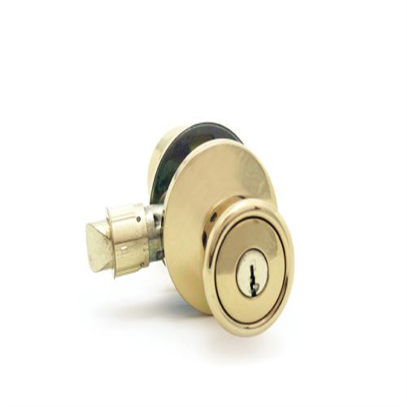 Lewis Hyman 1731591 Atlas Mobile Home Entry Door Knob Lock, Polished Brass