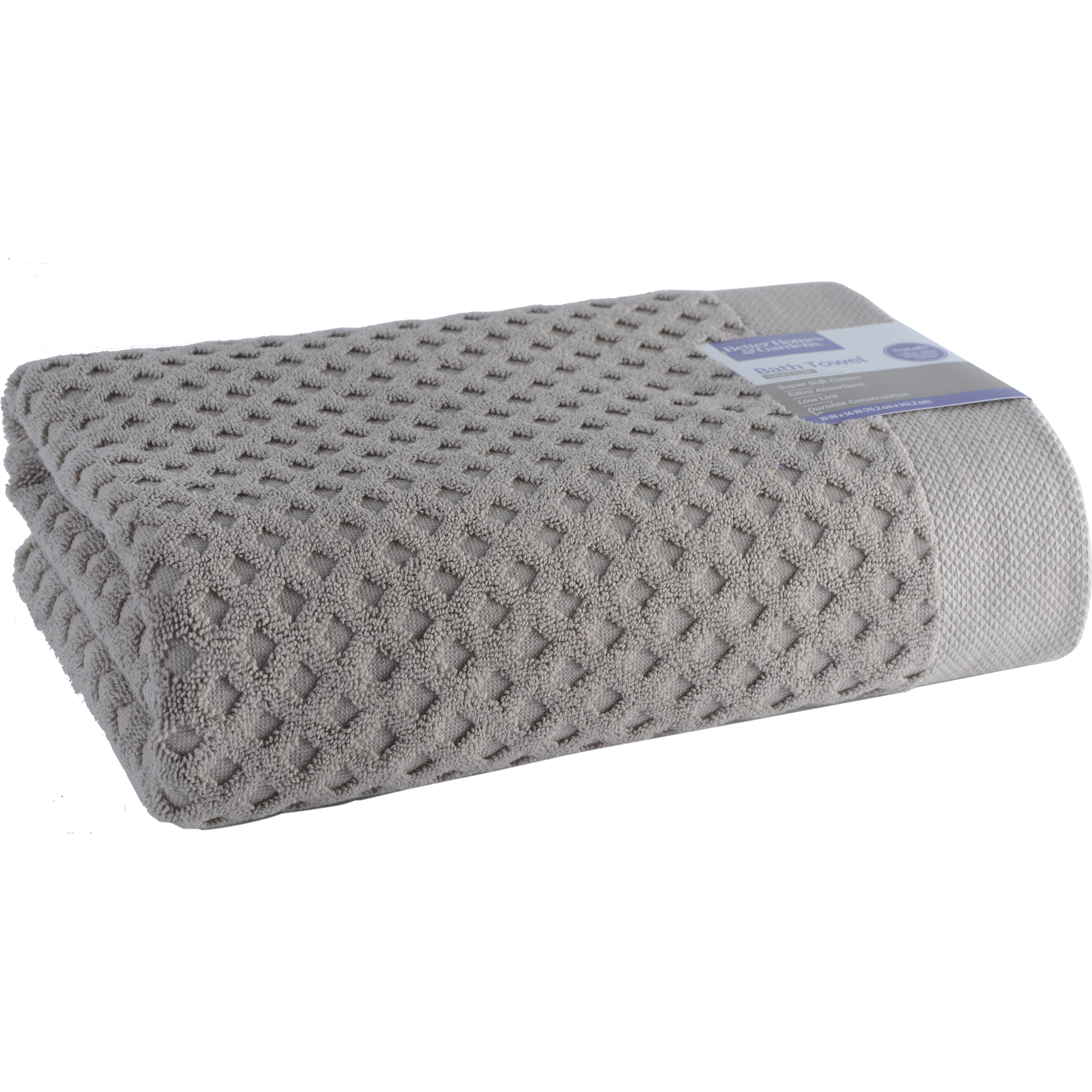 Better Homes and Gardens Thick and Plush Solid Textured Bath Towel Collection by Loftex China LTD